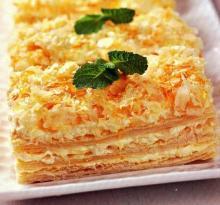 Торт Наполеон из готового слоеного теста
